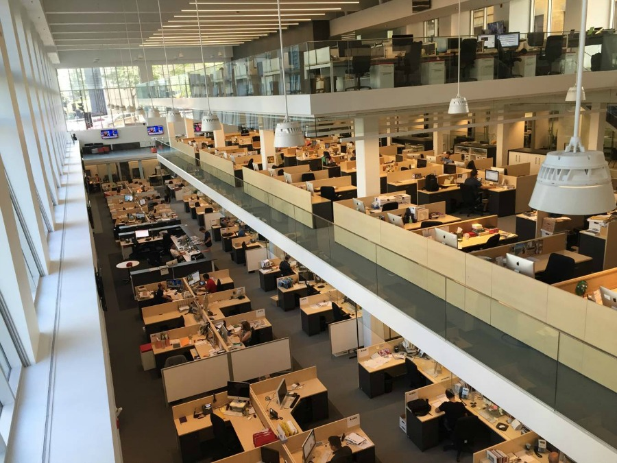 La redacción del diario La Presse, en Montreal (Canadá). Foto: Ismael Nafría