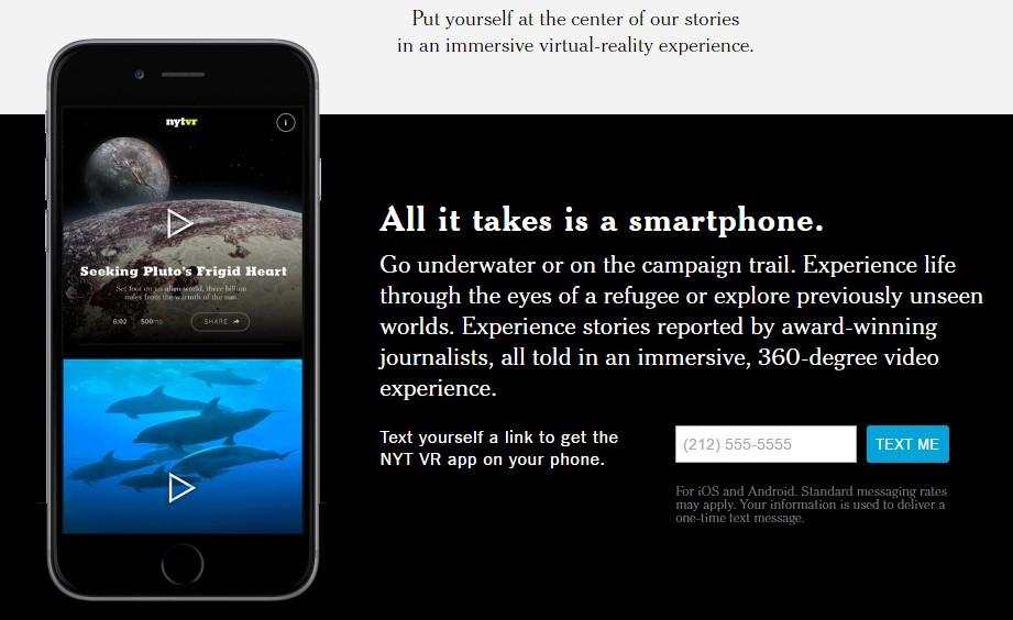 The New York Times amplía su apuesta por la realidad virtual