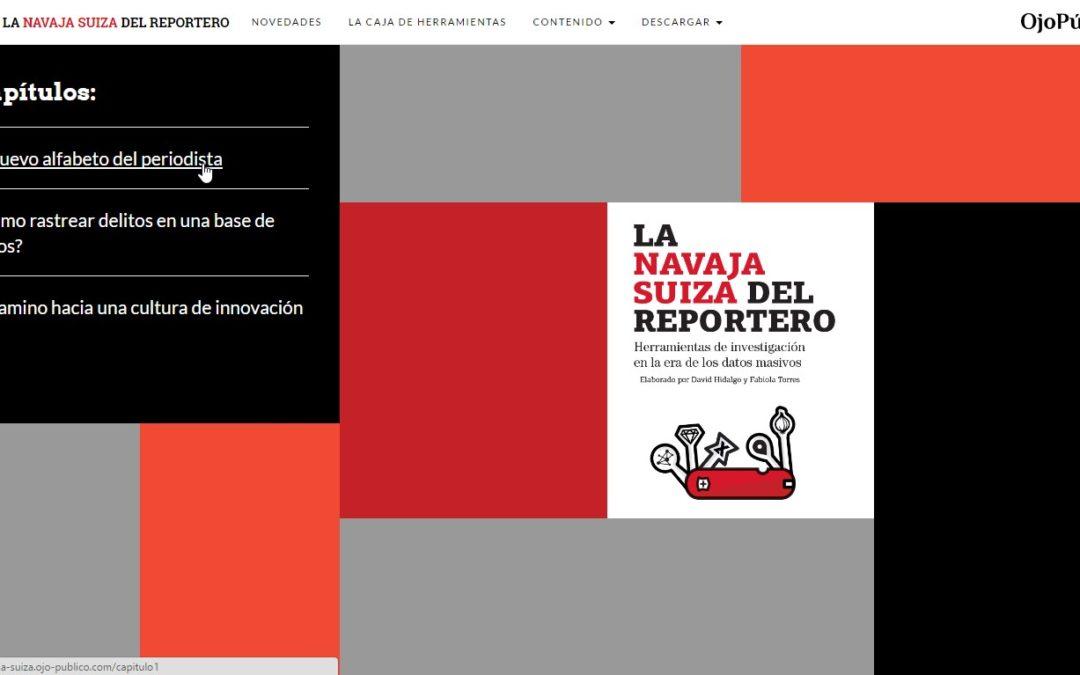 """""""La navaja suiza del reportero"""", magnífico manual gratuito sobre periodismo de datos"""
