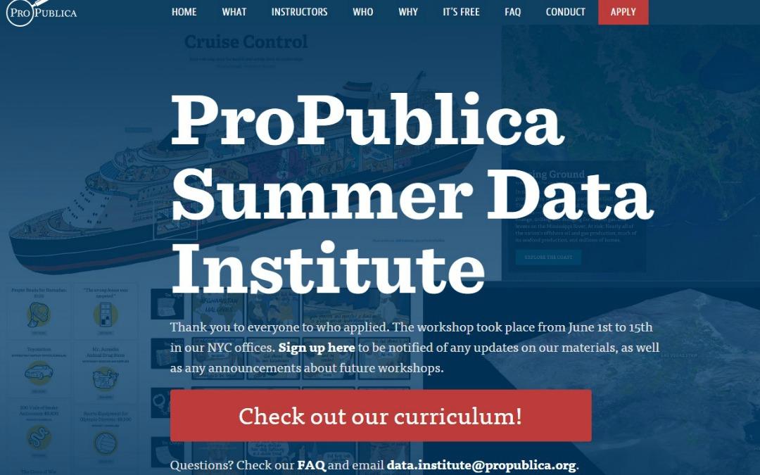 ProPublica publica los materiales de su curso gratuito sobre periodismo de datos