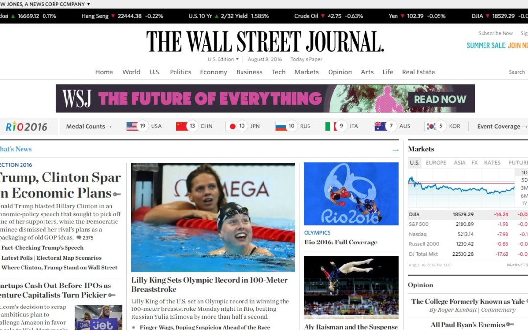 The Wall Street Journal se acerca al millón de suscriptores digitales