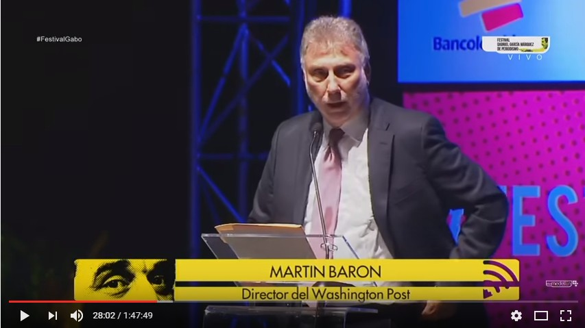 Lecciones de periodismo del director del Washington Post, Marty Baron