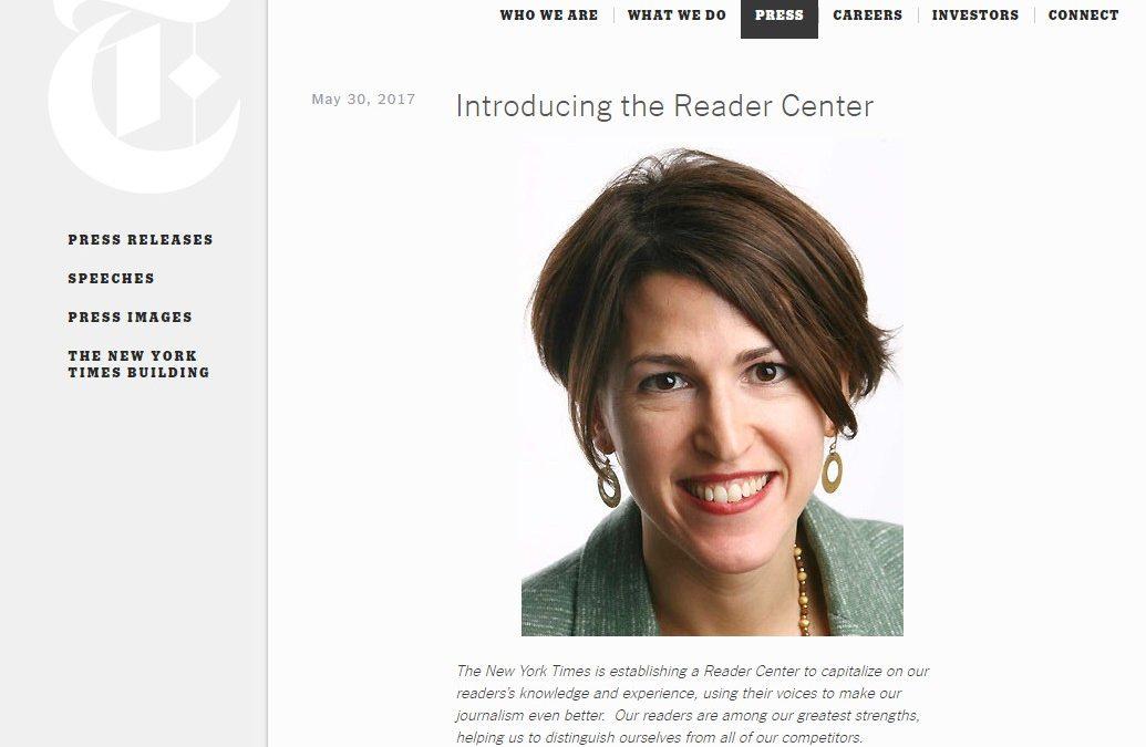 'The New York Times' crea un Centro del Lector para potenciar la relación con sus usuarios