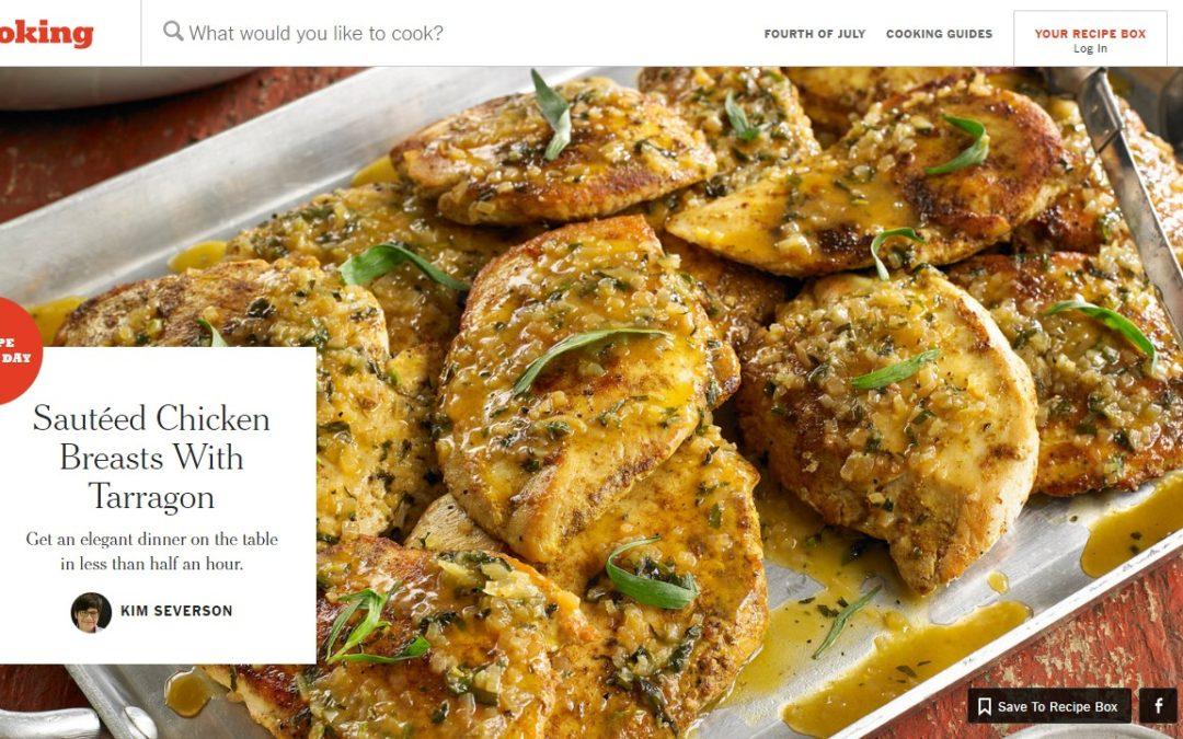 Cooking, la exitosa web de cocina de The New York Times, pasa a ser un producto de suscripción