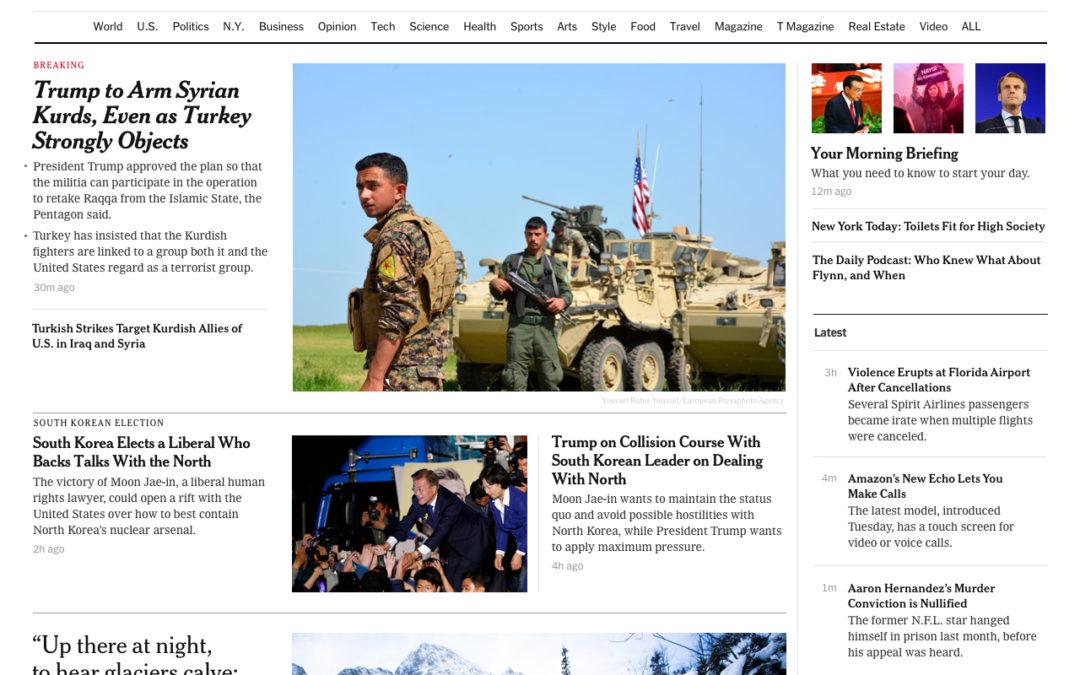 The New York Times empieza a probar su nuevo diseño responsive