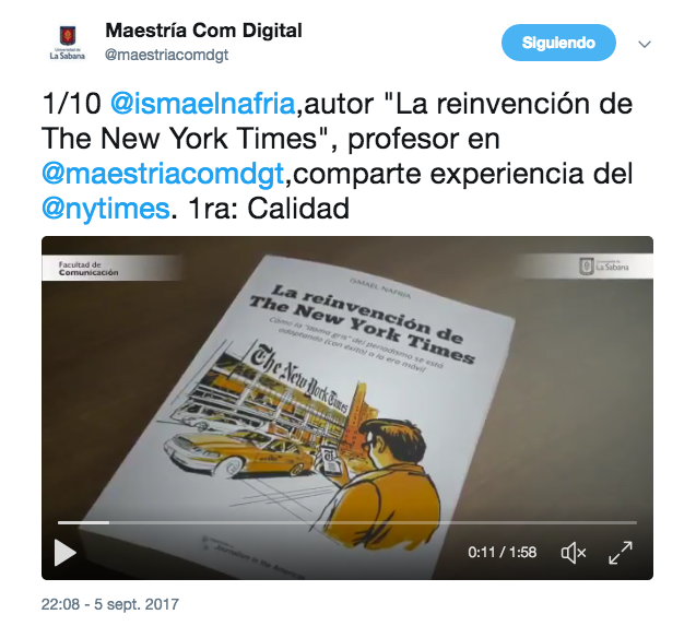 Las diez conclusiones sobre la experiencia de transformación digital de The New York Times, en vídeo