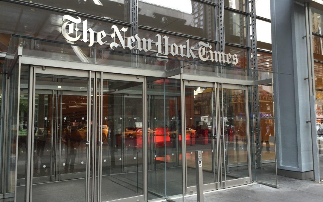 The New York Times aumenta sus suscriptores digitales, ingresos y beneficios en el primer trimestre de 2018