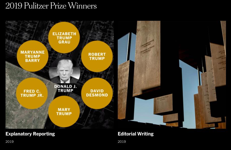 The New York Times encabeza la lista de medios con más premios Pulitzer ganados a lo largo de la historia